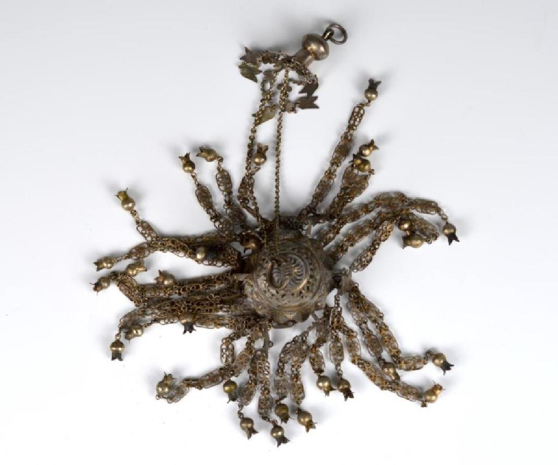 ASIAN SILVER ALLOY HANGING DECORATION