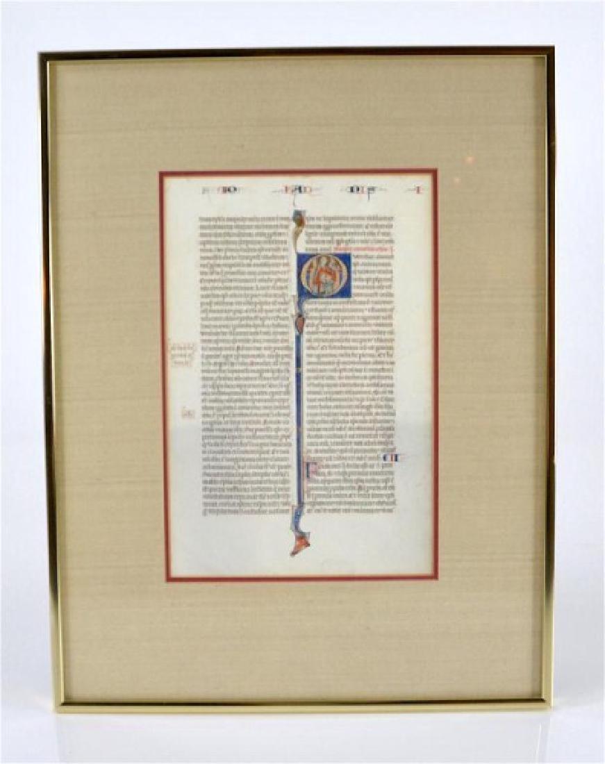 12th CENTURY MEDIEVAL BIBLE LEAF - 2