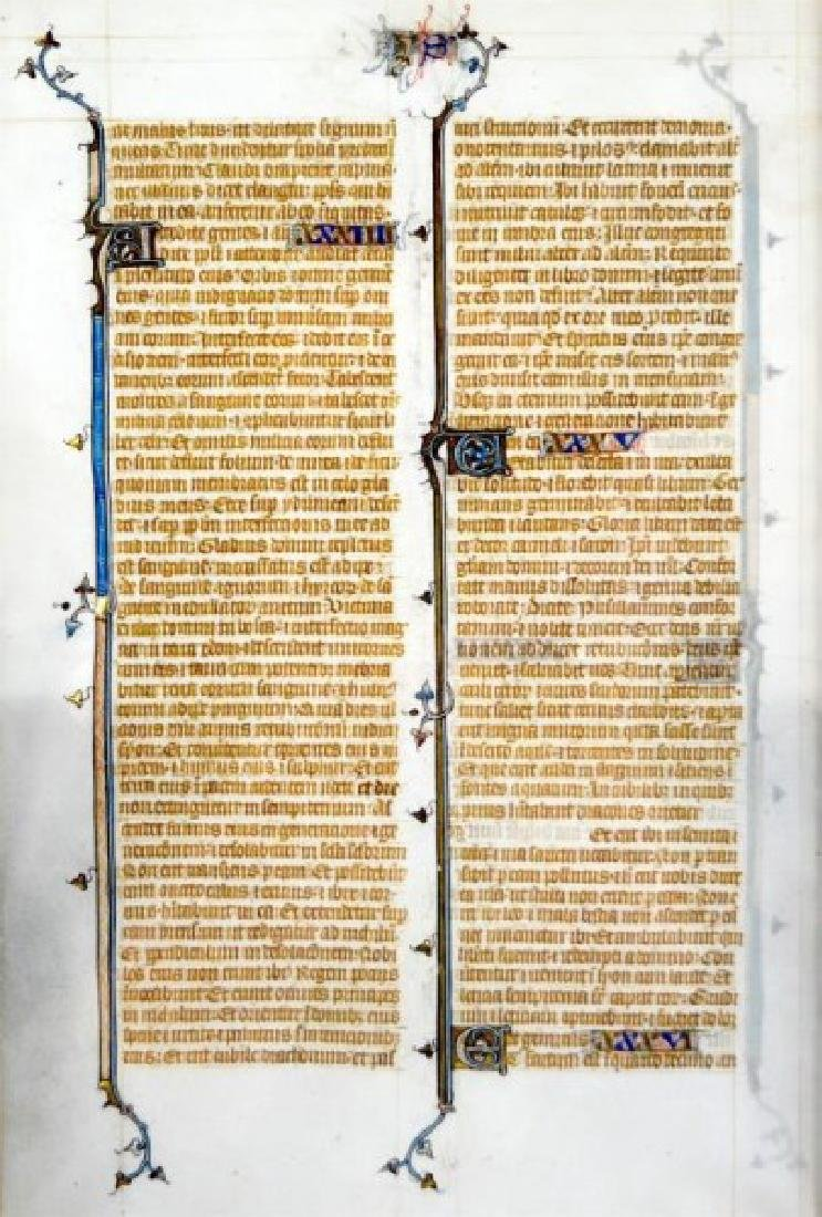 13th CENTURY FRENCH BIBLE LEAF