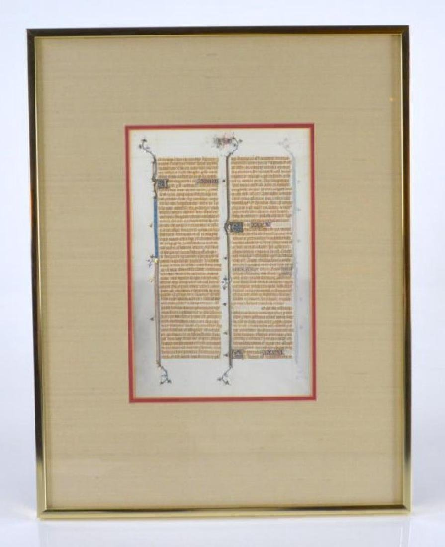 13th CENTURY FRENCH BIBLE LEAF - 2