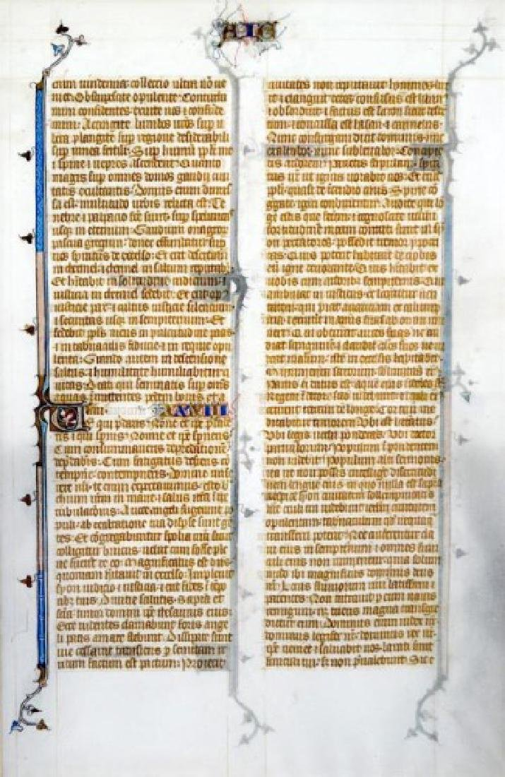 13th CENTURY FRENCH BIBLE LEAF - 3