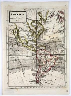 HERMAN MOLL MAP AMERICA 1726