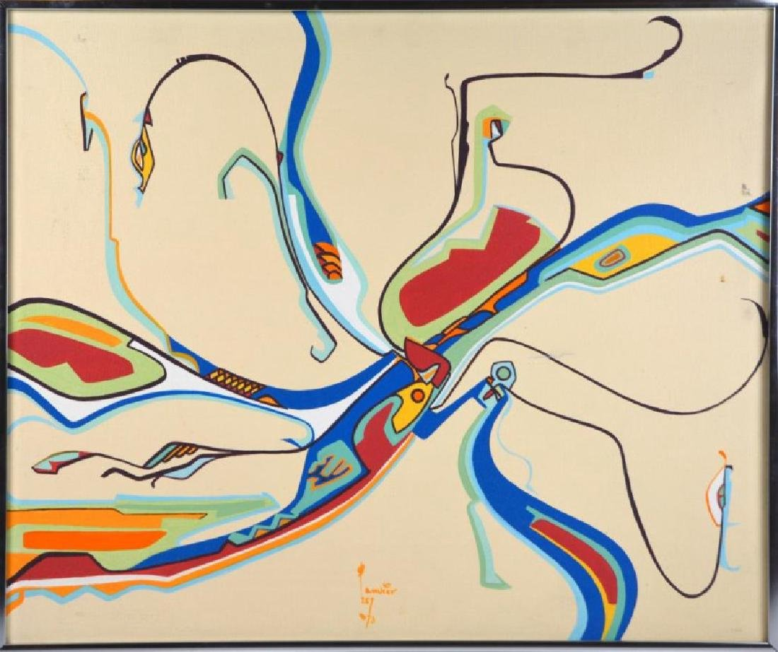 ALEX JANVIER (Native Canadian, 1935- )