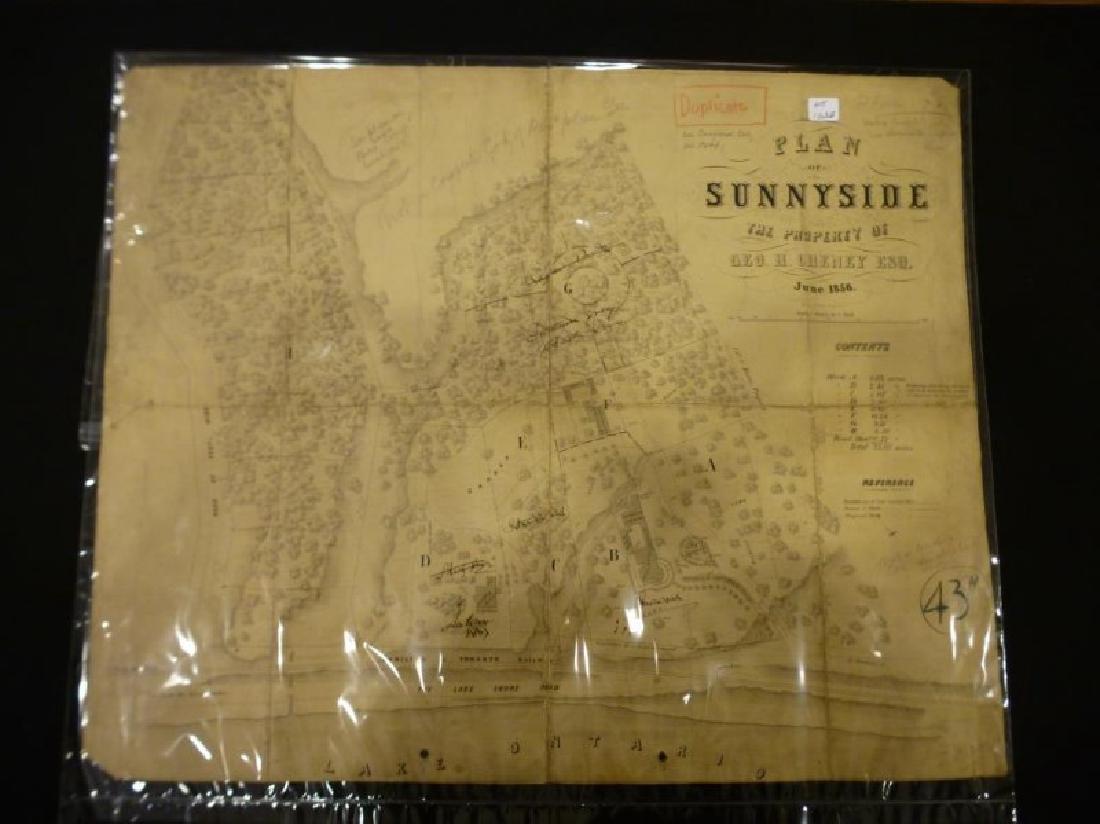 EARLY PLAN OF SUNNYSIDE TORONTO