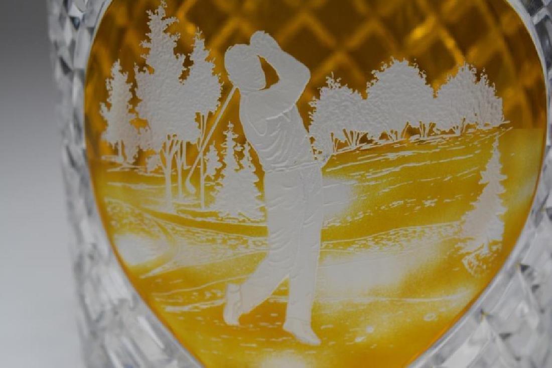 BOHEMIAN GLASS WINE COOLER - 2