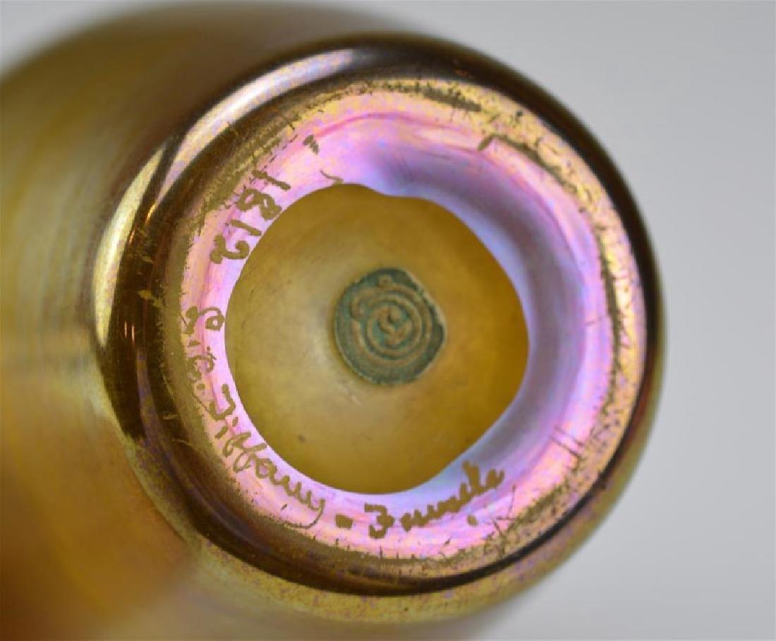 TIFFANY GOLD FAVRILE GLASS VASE - 2