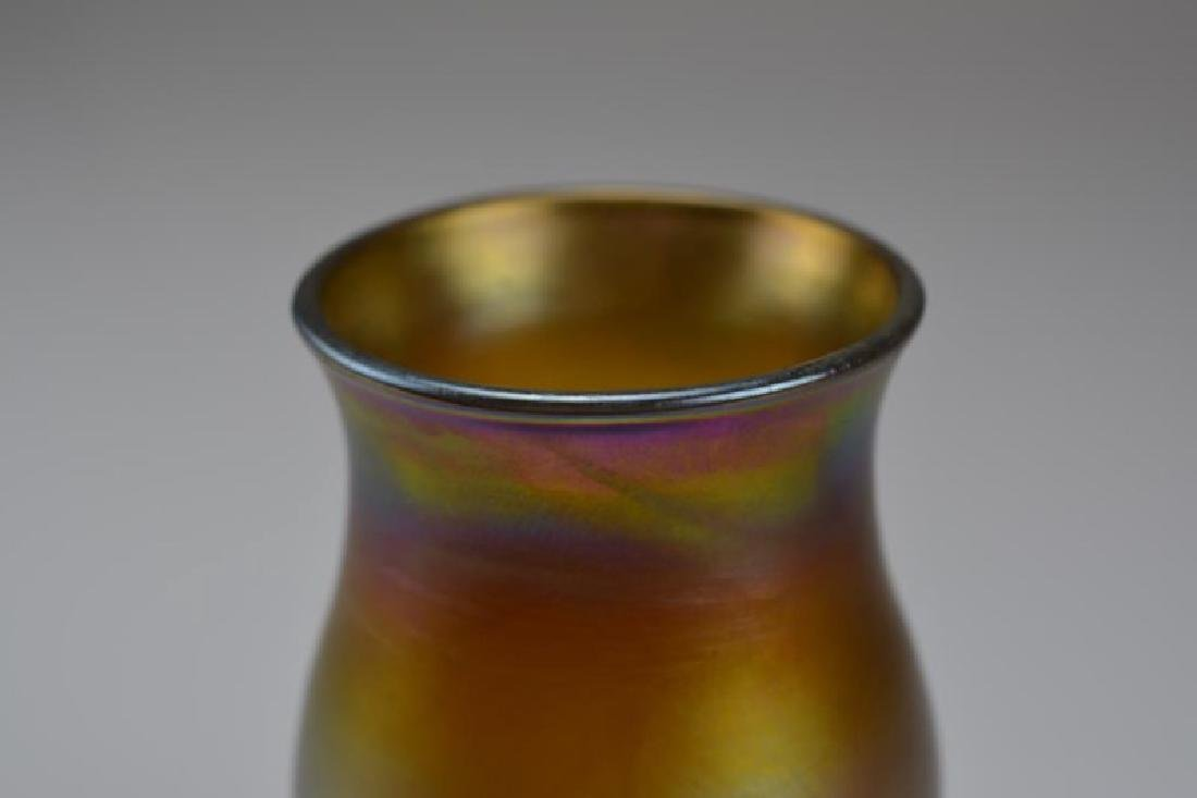 TIFFANY GOLD FAVRILE GLASS VASE - 4