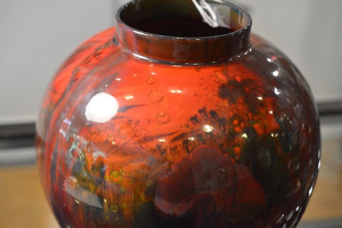 ROYAL DOULTON SUNG FLAMBE GLAZED VASE - 5