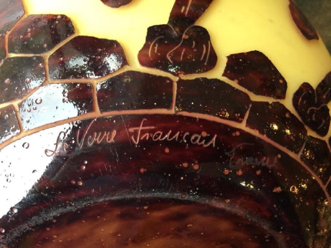 FRENCH CAMEO GLASS VASE BY SCHNEIDER - 2