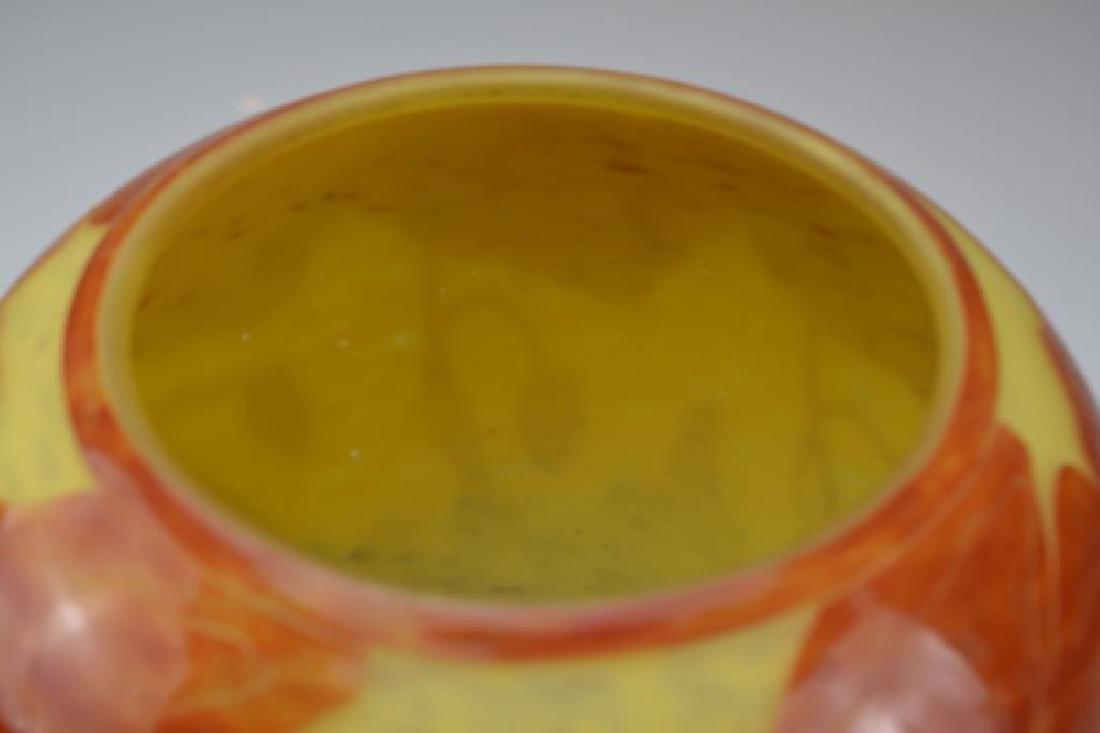 FRENCH CAMEO GLASS VASE BY SCHNEIDER - 8