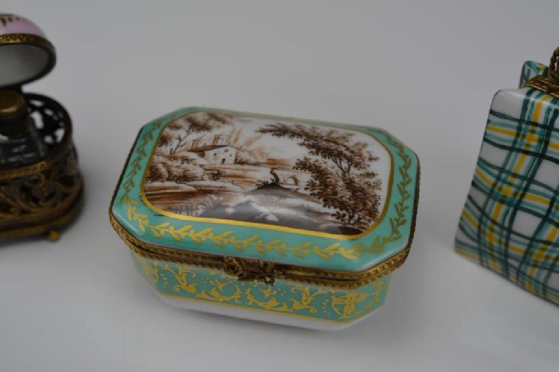 LOT OF NINE FRENCH PORCELAIN DRESSER BOXES - 4