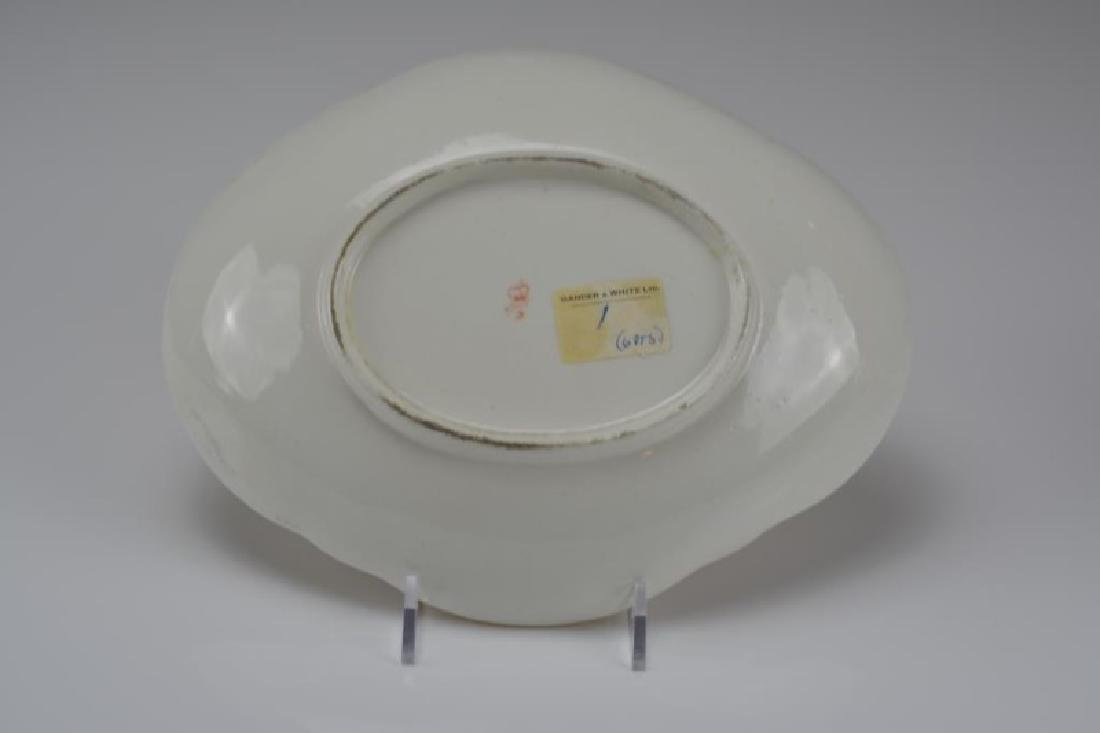 DERBY PORCELAIN SAUCER TUREEN ON STAND - 3