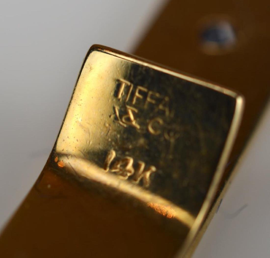 TIFFANY & CO. YELLOW GOLD TIE CLIP - 4