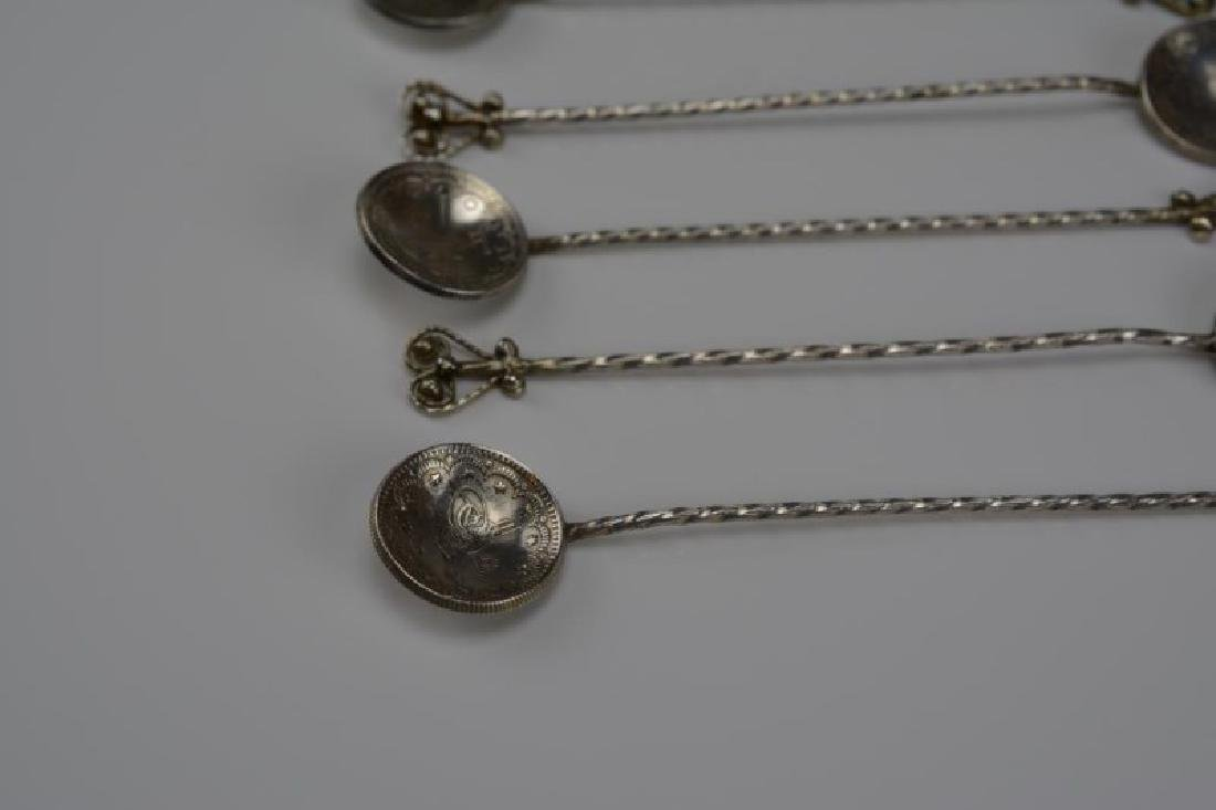 OTTOMAN COIN MOUNTED SPOONS AND TONGS - 3