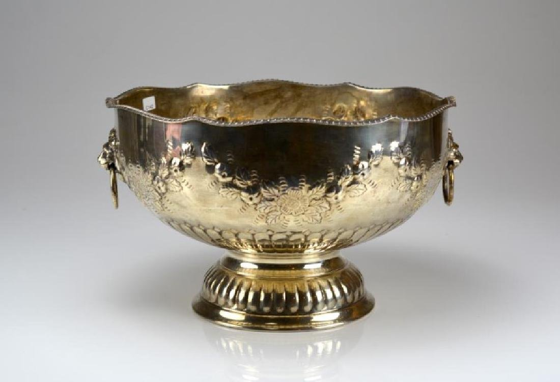 ENGLISH SILVERPLATED MONTEITH PUNCH BOWL
