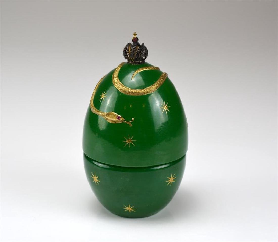 THEO FABERGE GREEN DEVIL'S EGG