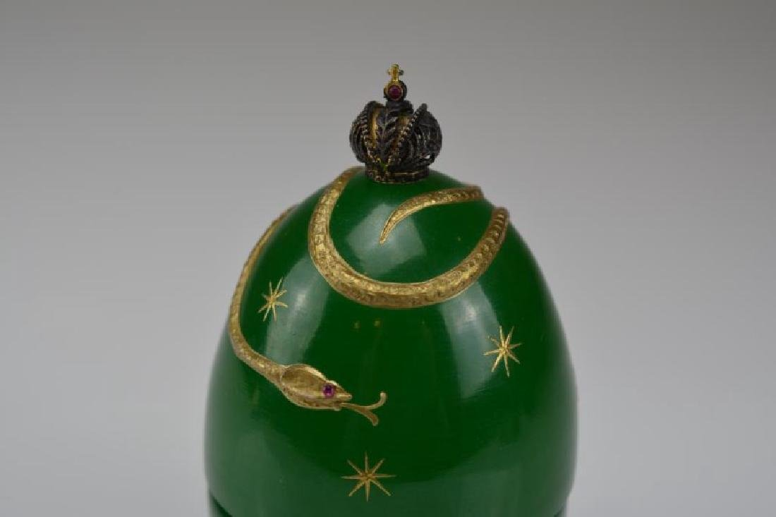 THEO FABERGE GREEN DEVIL'S EGG - 2