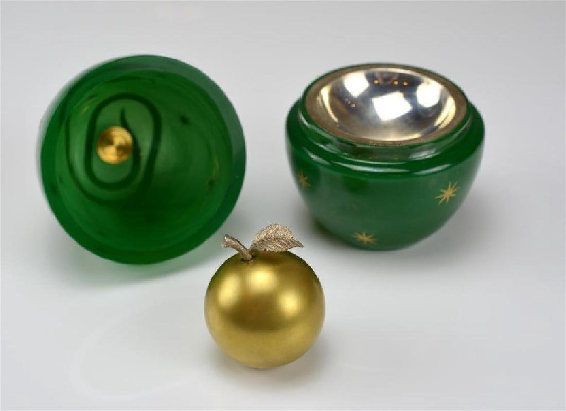 THEO FABERGE GREEN DEVIL'S EGG - 3