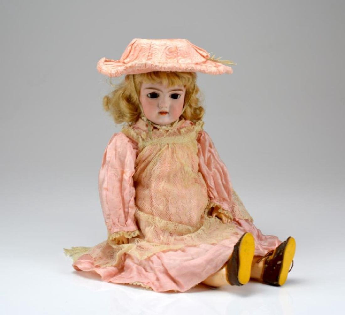 GERMAN BISQUE HEAD ANTIQUE DOLL