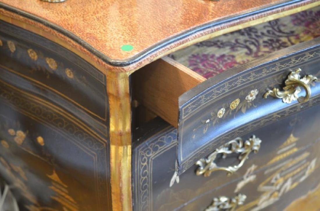 CHINOISERIE PAINTED BOMBE COMMODE - 2