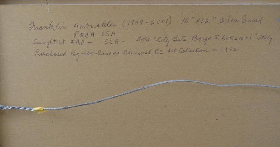 FRANKLIN ARBUCKLE (Canadian, 1909-2001) - 3