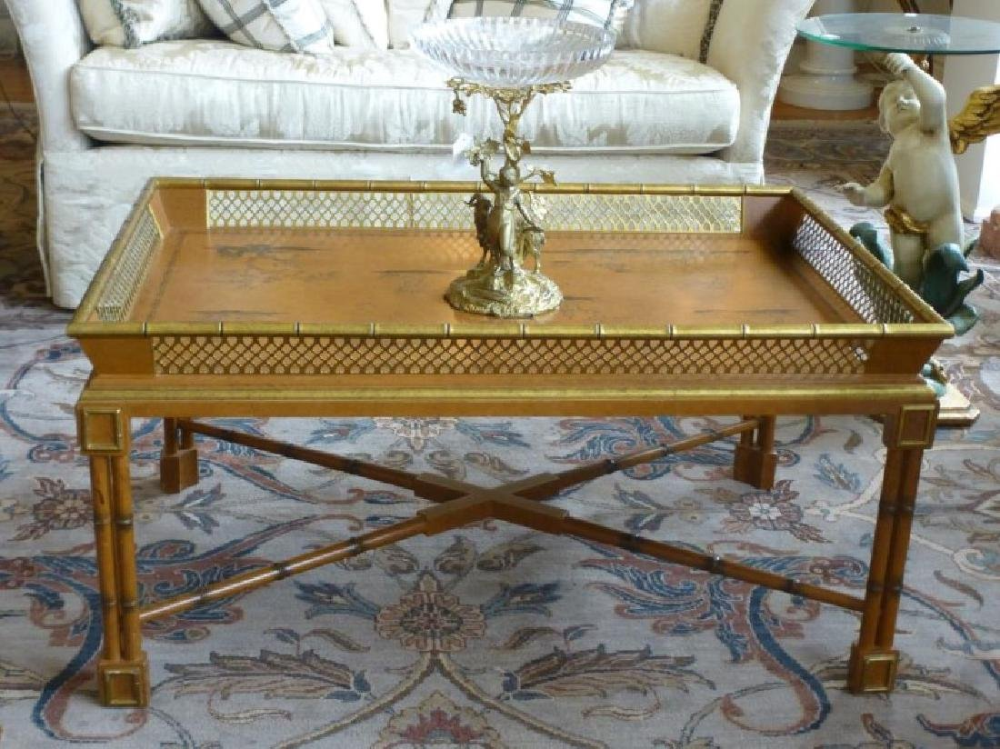Chinoiserie Coffee Table with Faux Bamboo Gallery