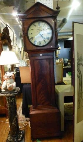 James Murdoch flame mahogany tall case clock