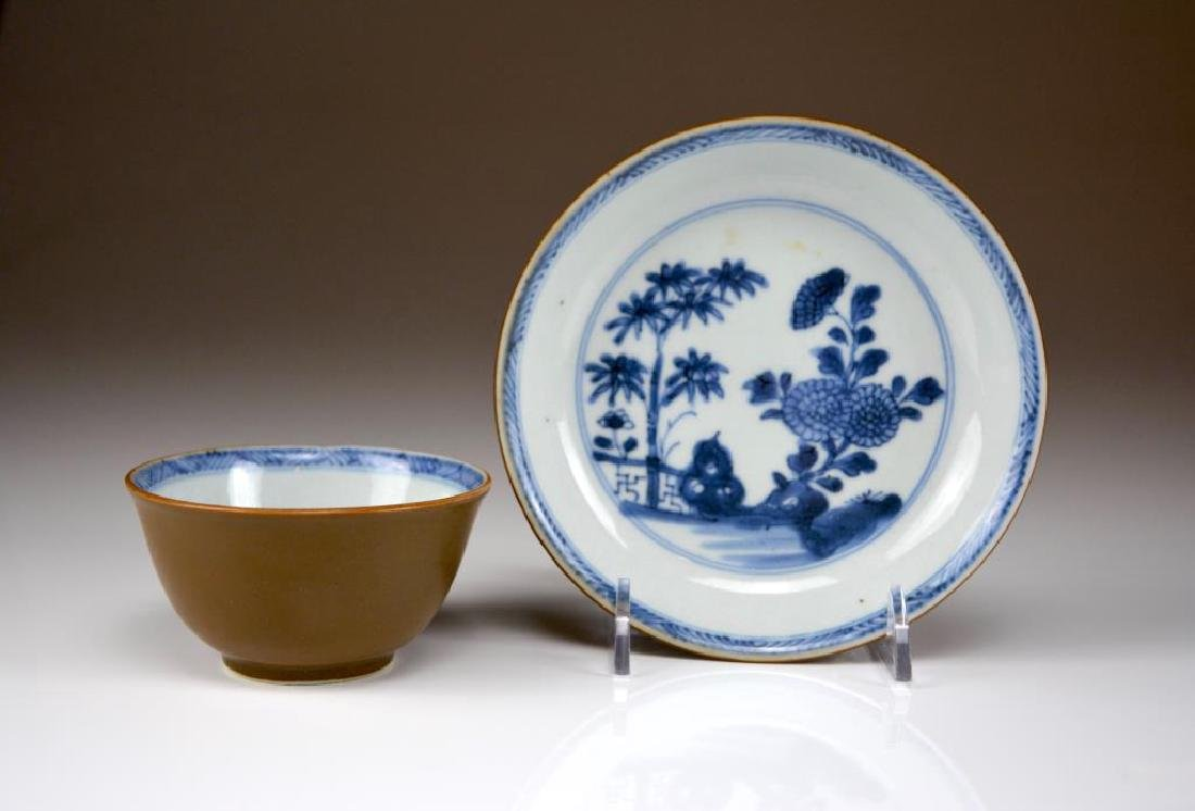 CHINESE EXPORT NANKNG CARGO PORCELAIN CUP AND DISH