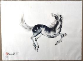 TWO CHIURA OBATA (1885-1975) HORSE PRINTS