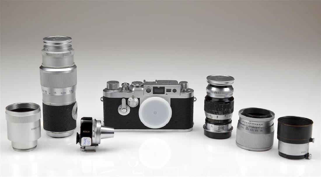 Leica IIIG Camera Body and Lenses