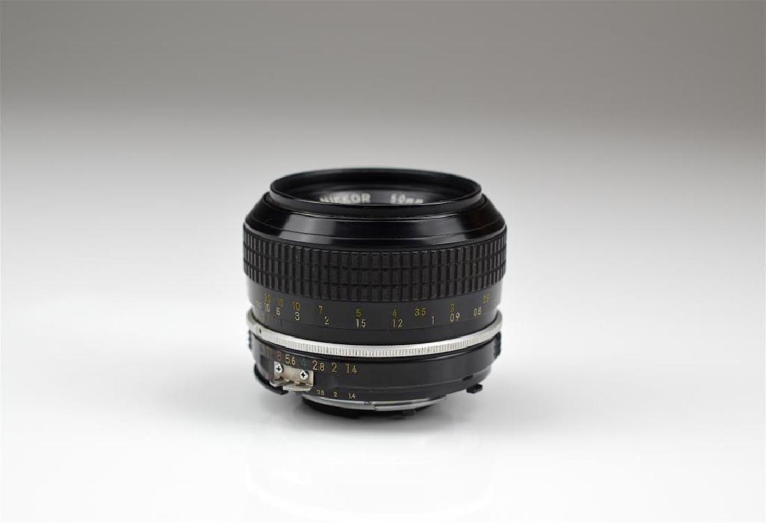 Nikon 50mm Nikkor F f=1:1.4 Lens - 3