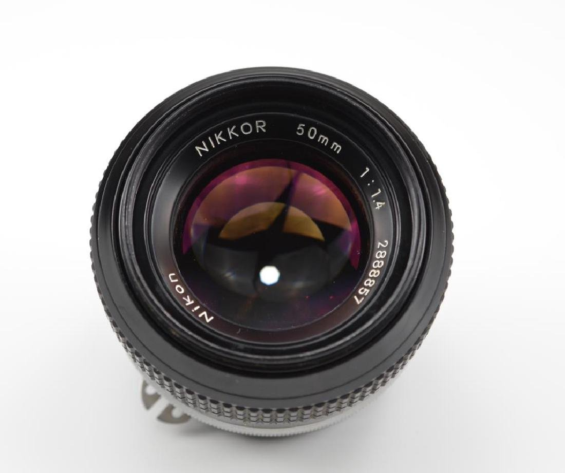 Nikon 50mm Nikkor F f=1:1.4 Lens - 4