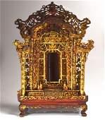 CHINESE CARVED GILTWOOD BUDDHIST ALTAR SHRINE