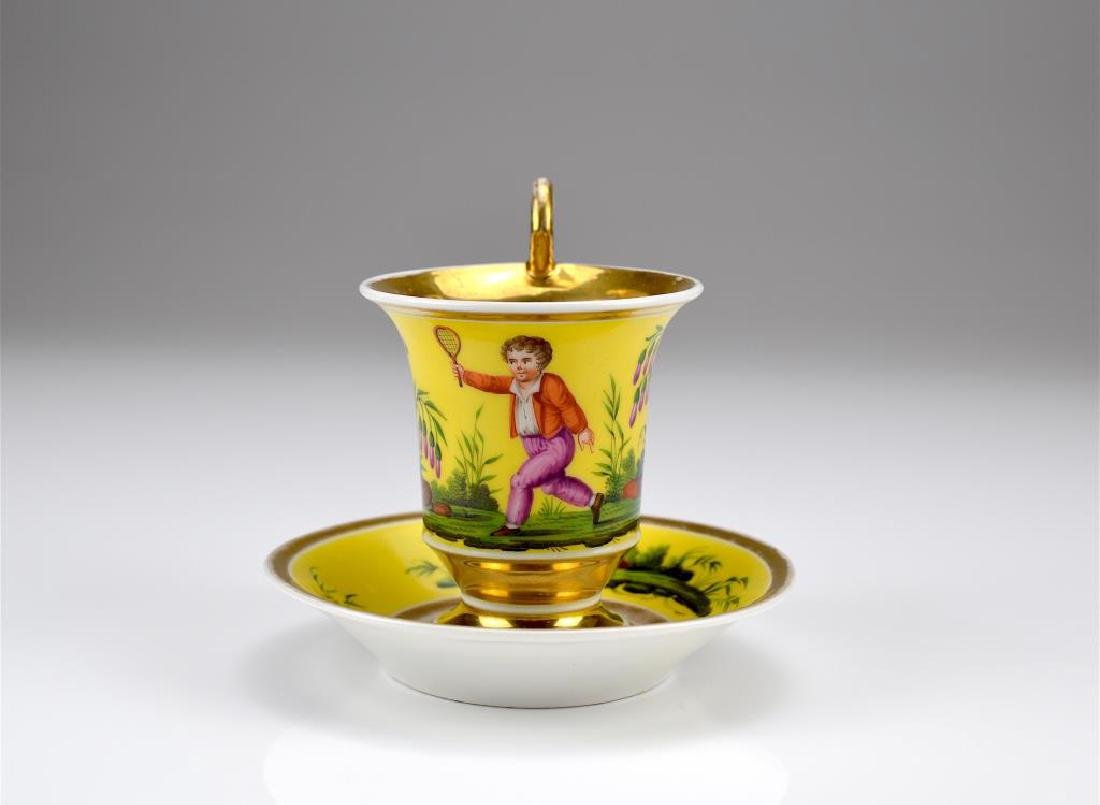 Early 19th C Paris Porcelain cup and saucer