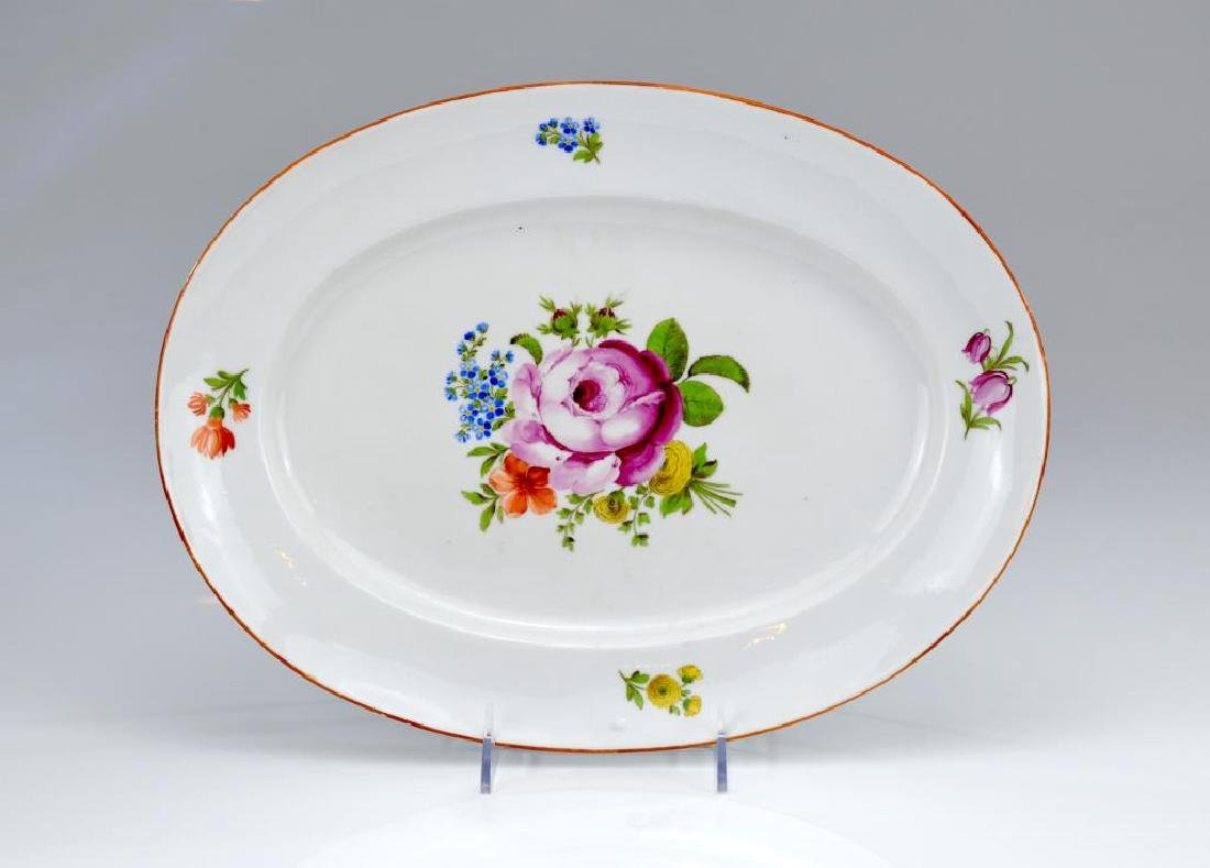 Continental18th/19th C oval porcelain tray