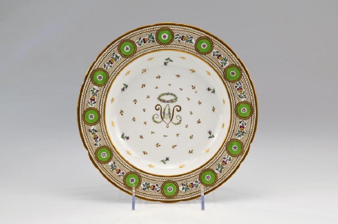 Late 18thC French porcelain Rue de Bondi soup bowl