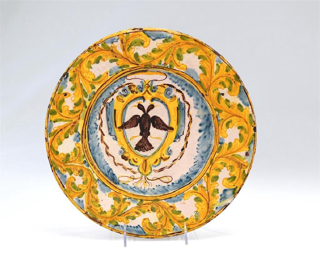 Early French faience pottery charger