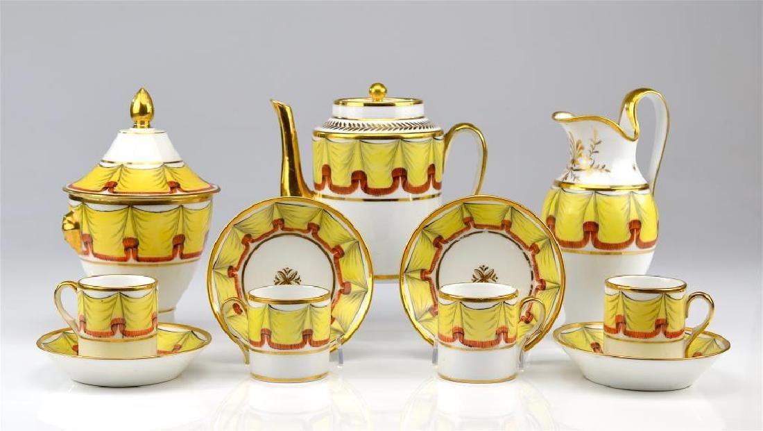 Early 19th C Paris Porcelain tea service