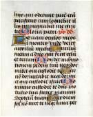 15th C Flemish illuminated leaf