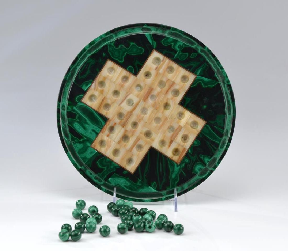 Chinese solitaire / checkers hardstone game