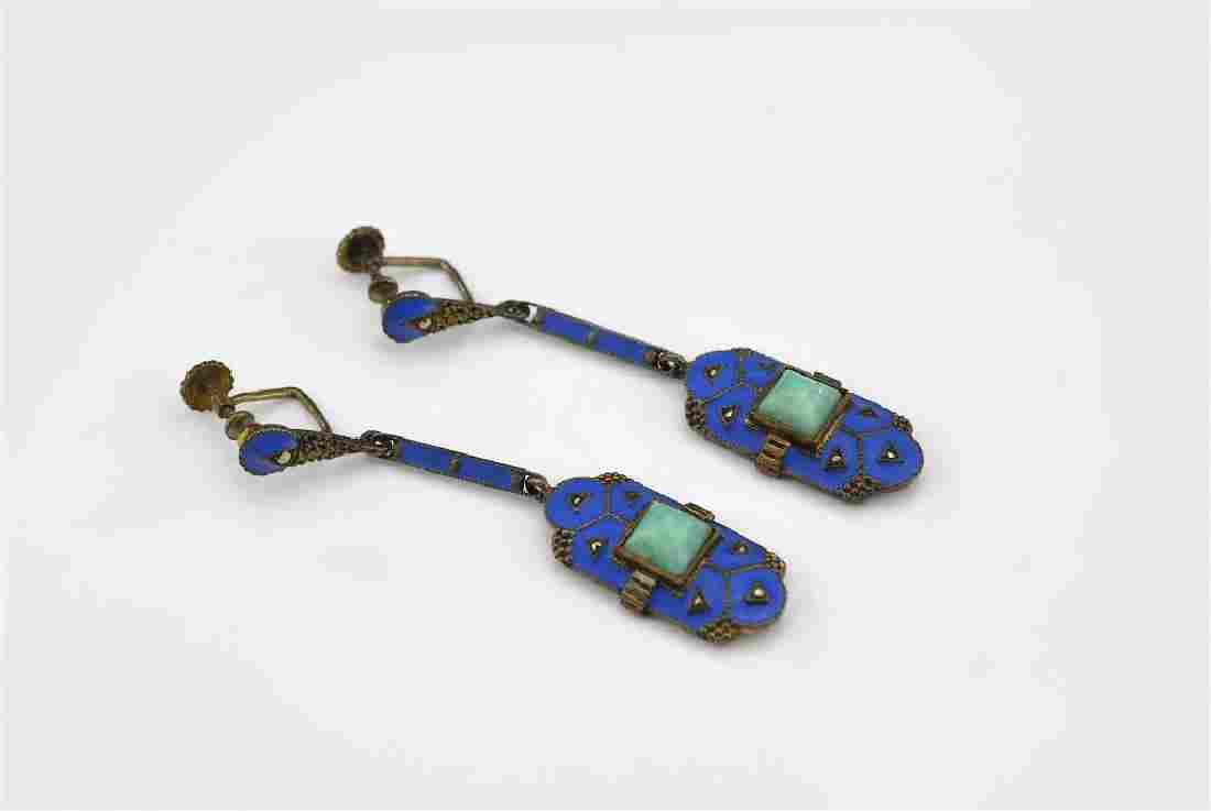 Pair of Art Deco Theodor Fahrner earrings