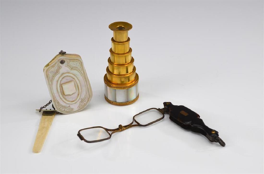 Three decorative antique accessories