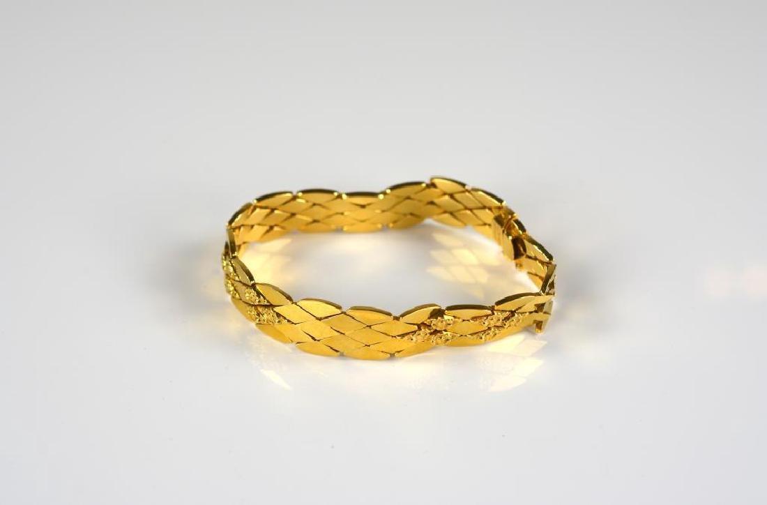 Italian 18k yellow gold bracelet