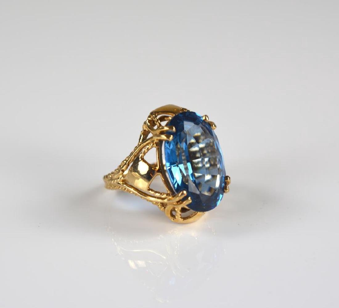 14k gold and topaz cocktail ring