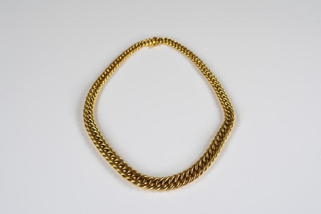 Italian 14k yellow gold loop link necklace