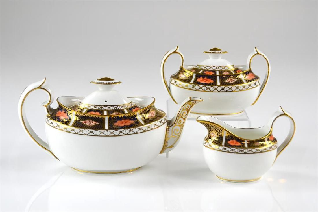 Three piece Royal Crown Derby porcelain tea set