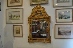 Louis XV French carved giltwood mirror