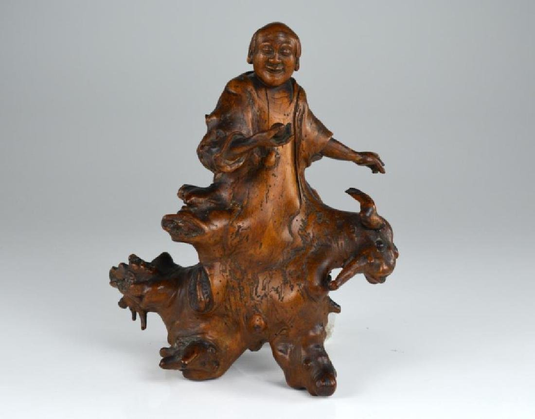 CHINESE ROOTWOOD FIGURAL CARVING