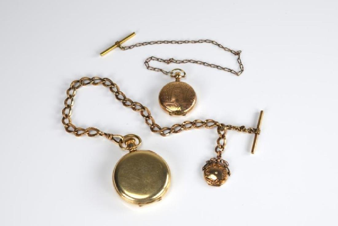 Two Waltham and Elgin pocket watches