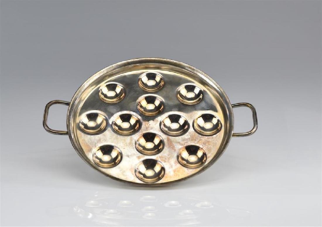Christofle Gallia silver plate escargot plate